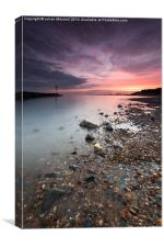 Felixstowe at Sunset, Canvas Print