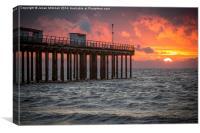 Felixstowe Sunrise, Canvas Print