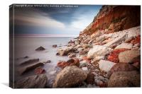 Hunstanton Cliffs, Canvas Print