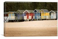 Beach Huts at Wells-Nest-The-Sea, Canvas Print