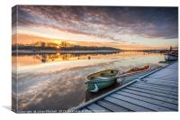 Sunrise on the River Deben, Canvas Print