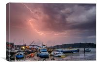 Lightning strike, Canvas Print