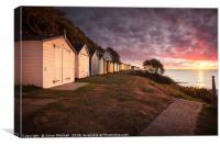 Beach Huts at Sunrise, Canvas Print