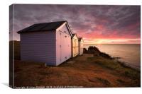 Sunrise at Felixstowe, Canvas Print