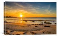 Hopeman sunset, Canvas Print