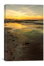 Hopeman tidal flow, Canvas Print