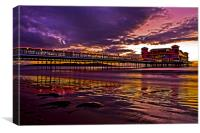 February Sunset Weston-Super-Mare, Canvas Print