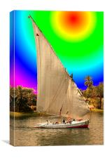 Sailing on the Nile, Canvas Print