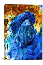 Cracked Astronaut, Canvas Print