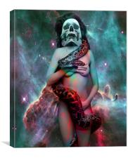 Cosmic Snake Dance, Canvas Print