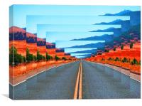 INFINITY ROAD, Canvas Print