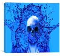 Alien Blue, Canvas Print