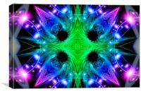 Alien Snowflake, Canvas Print