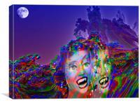 Moon Vampires, Canvas Print