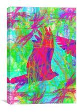 Birds in Flight, Canvas Print
