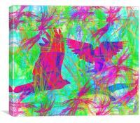 Birds in Flight 2, Canvas Print