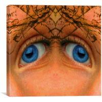Eyes of an Alien, Canvas Print
