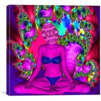 Purple Meditation, Canvas Print