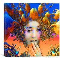 Organic Medusa, Canvas Print