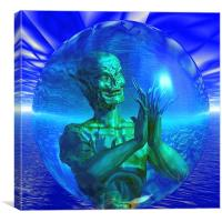 Monster in a Bubble, Canvas Print