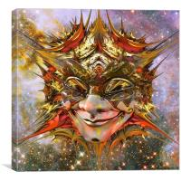 Star Clown, Canvas Print