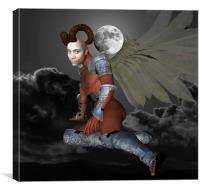 Moon Demon, Canvas Print