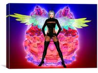 Party Angel, Canvas Print