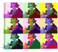 Ludwig Van Beethoven (1712-73), Canvas Print