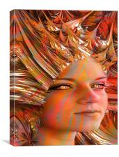 Crystal Eyes, Canvas Print