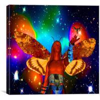 Star Moth, Canvas Print
