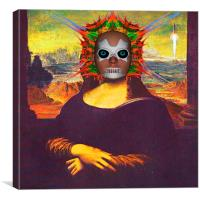 Cyborg Mona Lisa, Canvas Print
