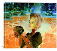 Electric cyborg , Canvas Print