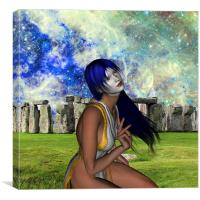 Pagan Meditation, Canvas Print