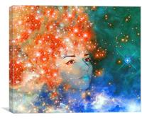 Red Galaxy, Canvas Print