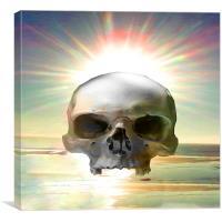 Skull Sunset, Canvas Print