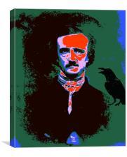 Edgar Allan Poe Pop Art 1, Canvas Print
