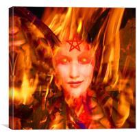 Fire Demon, Canvas Print