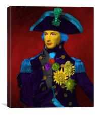 Horatio Nelson Pop Art, Canvas Print