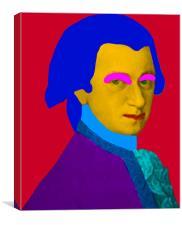 Mozart pop Art, Canvas Print