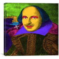 William Shakespeare Pop Art, Canvas Print