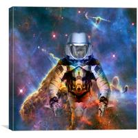 Astronaut Disintegration, Canvas Print