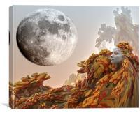 Moon Journey, Canvas Print
