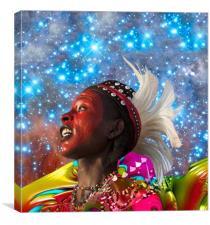 African Star Dreamer, Canvas Print