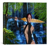 Amazonian Warrior, Canvas Print
