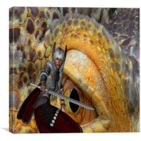 Dragon Slayer 2, Canvas Print