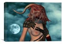 Moonlight Demon, Canvas Print