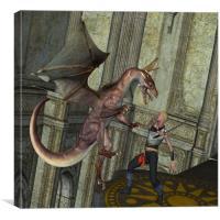 Dragon Attack, Canvas Print