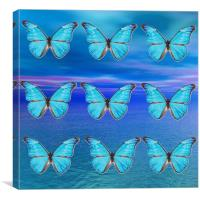 Blue Butterflies, Canvas Print