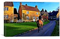 Country Life in The Cotswolds, Canvas Print
