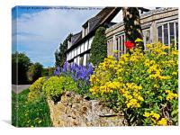 Cottage garden in bloom., Canvas Print
